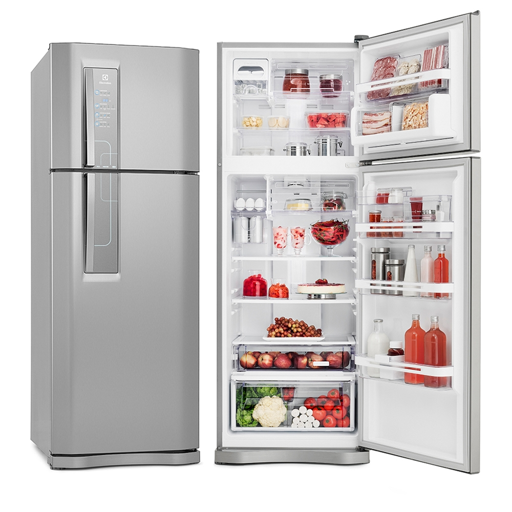 Geladeira refrigerador electrolux 2 portas 459l frost for Geladeira 2 portas inox